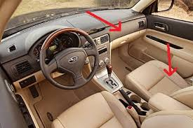 subaru forester interior. basically the suedelike material on sides of front seats and dimpled vinyl dash door trim subaru forester interior