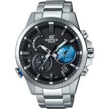 men s casio edifice time traveller bluetooth hybrid smartwatch mens casio edifice time traveller bluetooth hybrid smartwatch alarm chronograph watch eqb 600d 1a2er