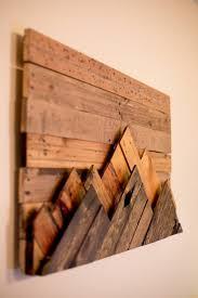 it wooden mountain range wall art