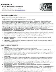 Mechanical Engineering Student Resume Mechanical Engineering