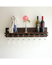 wine glass rack shelf. Simple Glass Rustic Wine Glass Holder Shelf Wooden Rack Wall Mounted Hanging Stemware  Bar Organizer To N