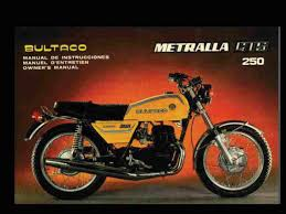 bultaco metralla operations maintenance manual for gts 250 cemoto operations maintenance manual specification charts wiring diagrams special tool list and much more restore that bultaco