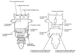 honda accord v fuse box wiring diagrams