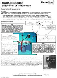wiring diagram for sump pump switch the wiring diagram electronic hi lo pump switch automatic hi low float switch wiring diagram