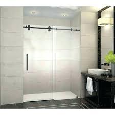 showers barn door shower glass doors oil rubbed bronze style show