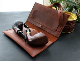 handmade leather pipe pouch bag product images of