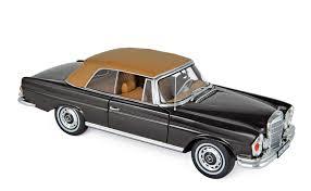 Set of 2 prop 65 warning : Mercedes Benz 280 Se Cabriolet 1969 Brown
