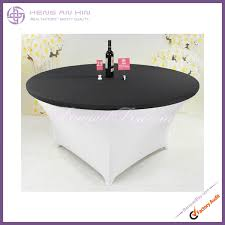 dark grey stretch table topper spandex table top lycra covers