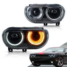 Challenger Sequential Lights Vland Led Headlights For Dodge Challenger 2008 2014 Turn Signal With Sequential Indicator Yaa Dg 0299 H