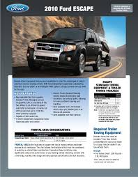 2010 ford escapre towing guide specifications capabilities