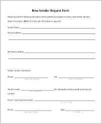 New Customer Setup Form Template Festival Vendor Application