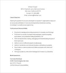 Resume Template Core Java Developer Resume Sample Free Resume