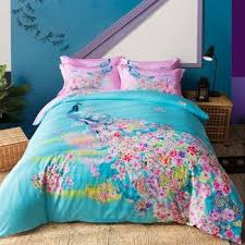 pink peacock bedding