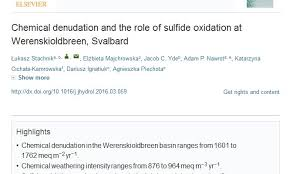 Chemical Denudation And The Role Of Sulfide Oxidation At
