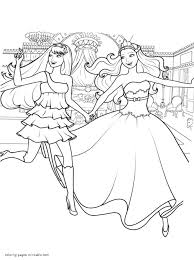 Barbie The Princess And The Popstar Coloring Sheets For Girls