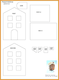 Gingerbread House Patterns Magnificent Paper Gingerbread House Template Printable Towns Shopeljefeco