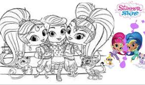 Shimmer And Shine Printableng Pages Stupendous Nick Jr Book Best