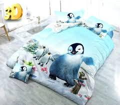 penguin bedding set penguin bedding sets cute quilt duvet cover bed in a bag sheet regarding