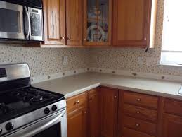 Kitchen Backsplash Wallpaper Faux Backsplash Wallpaper Right Kitchen Wallpaper That Looks