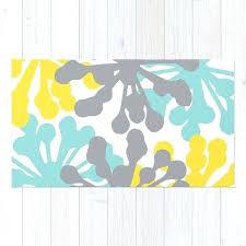 fl rug blue yellow grey area modern dandelion shuff gray