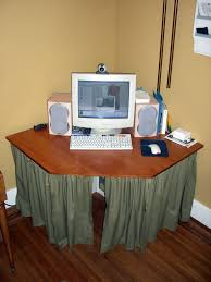 introduction corner computer desk made with pipe and plywood