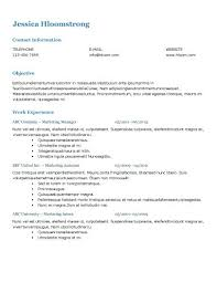 Resume Categories Stunning Simple Professional Resume Categories With Additional Free Resume