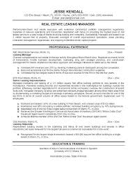Real Estate Sales Resume Ideal Corporate Real Estate Director Cover