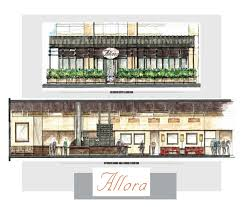 restaurant exterior drawing.  Drawing A Rendering Of Allora Concentrics Restaurants And Restaurant Exterior Drawing 0