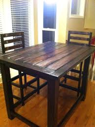 diy bar height table rustic counter height table plan diy pallet bar height table