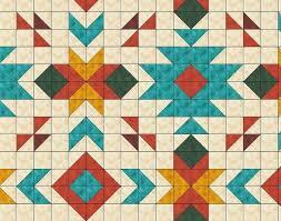 Southwest Pattern Simple Southwest Quilt Pattern Southwest Quilt Nativ American Quilt