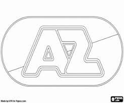Kleurplaat Az Alkmaar Logo Kleurplaten