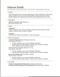 Resume Templates Downloads Best of Completely Free Resume Template Downloads Simple Resume Template