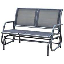 outside glider chair. Modren Glider Outsunny Patio Double 2 Person Glider Bench Rocker Porch Love Seat Swing  Chair With Outside L