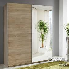 expensive wood 2 door sliding wardrobe mirrored doors frame luxurious single crystal glass panel use