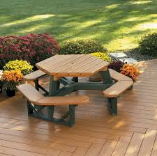beautiful all weather picnic table hex picnic table heavy duty commercial grade best er