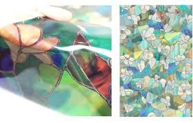 stained glass sheets it is window blindfold sheet the material of same as a transpa plastic i do special print to 0 like