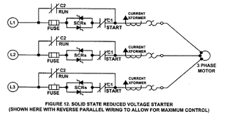 soft starters applications and types of soft starters solid state reduced voltage starter diagram