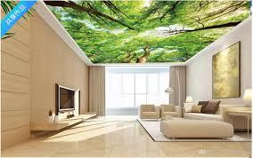 Benutzerdefinierte Fototapete 3d Decke Wandbilder Tapete Grünen Wald Wohnzimmer Schlafzimmer Zenith Wand Decke Papel De Parede