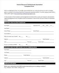Employee Grievance Form Grievance Report Example 7 Sample Employee Forms Template