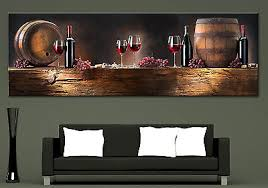 wine themed canvas wall art
