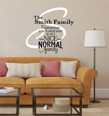 Small Picture Family Name Decal by Decor Designs Decals Nice Normal Family Pers