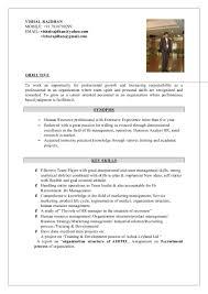 hr vishal resume having more than yrs exp