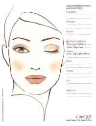 Free Blank Face Charts For Makeup Artists Saubhaya Makeup