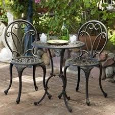 Cast Iron Patio Furniture Sets  FoterThree Piece Outdoor Furniture