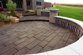 wood stamped concrete using wood hardiplanks