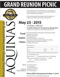 St. Thomas Aquinas High School » 50Th Picnic Reservation Form