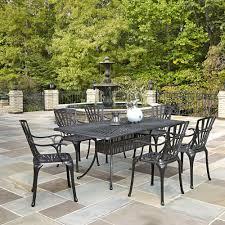 sensational design patio furniture dining sets the home depot canada largo 7 piece rectangular set with