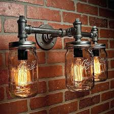 industrial bar lighting. Steampunk Lighting Supplies Steam Punk Industrial  Mason Jar Light Bar