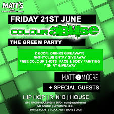 Green Party Flyer The Green Party Matts Bar