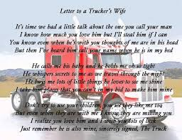 Letter to a Truckers Wife | I am a Trucker's wife and proud of it ...